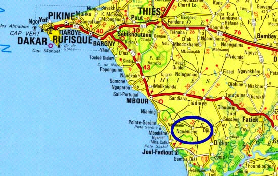 Zoom carte senegal 1enfant for Plan de dakar